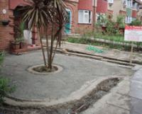 front garden groundwork