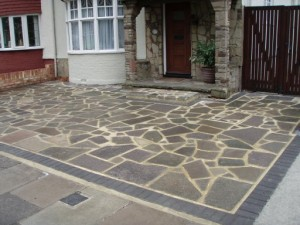 customer enquiry for patios & driveway paving Crayford