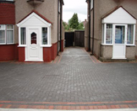 completed driveway paving