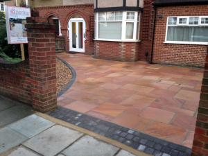 edging and driveway paving
