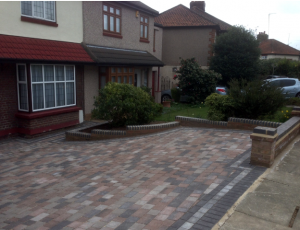 driveway paving, edging and walling.